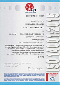 Gestione ambientale ISO 14001:2015